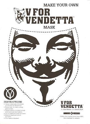 Make your own V for Vendetta mask