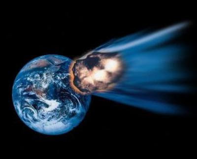 Simulation of Meteor hitting Earth