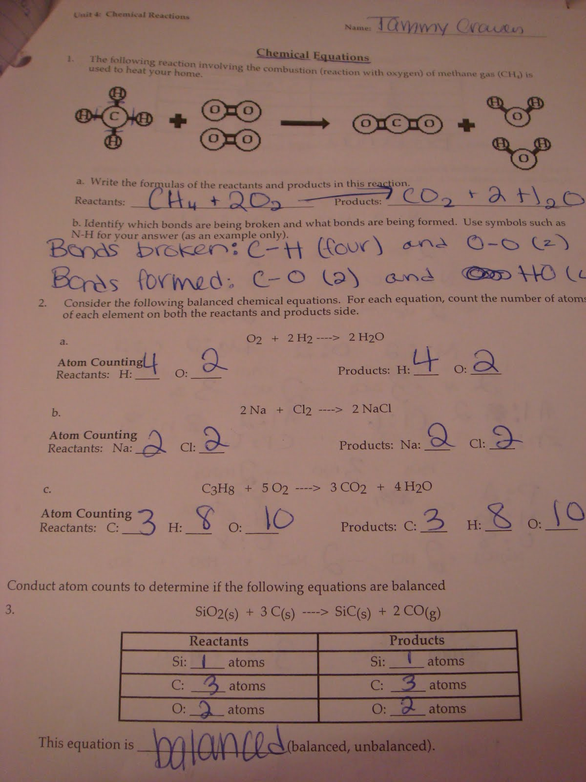 Honors Chemistry, Period 3: November 2010