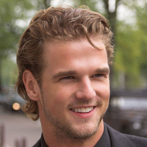good hairstyles for men with long hair. good long haircuts for men.