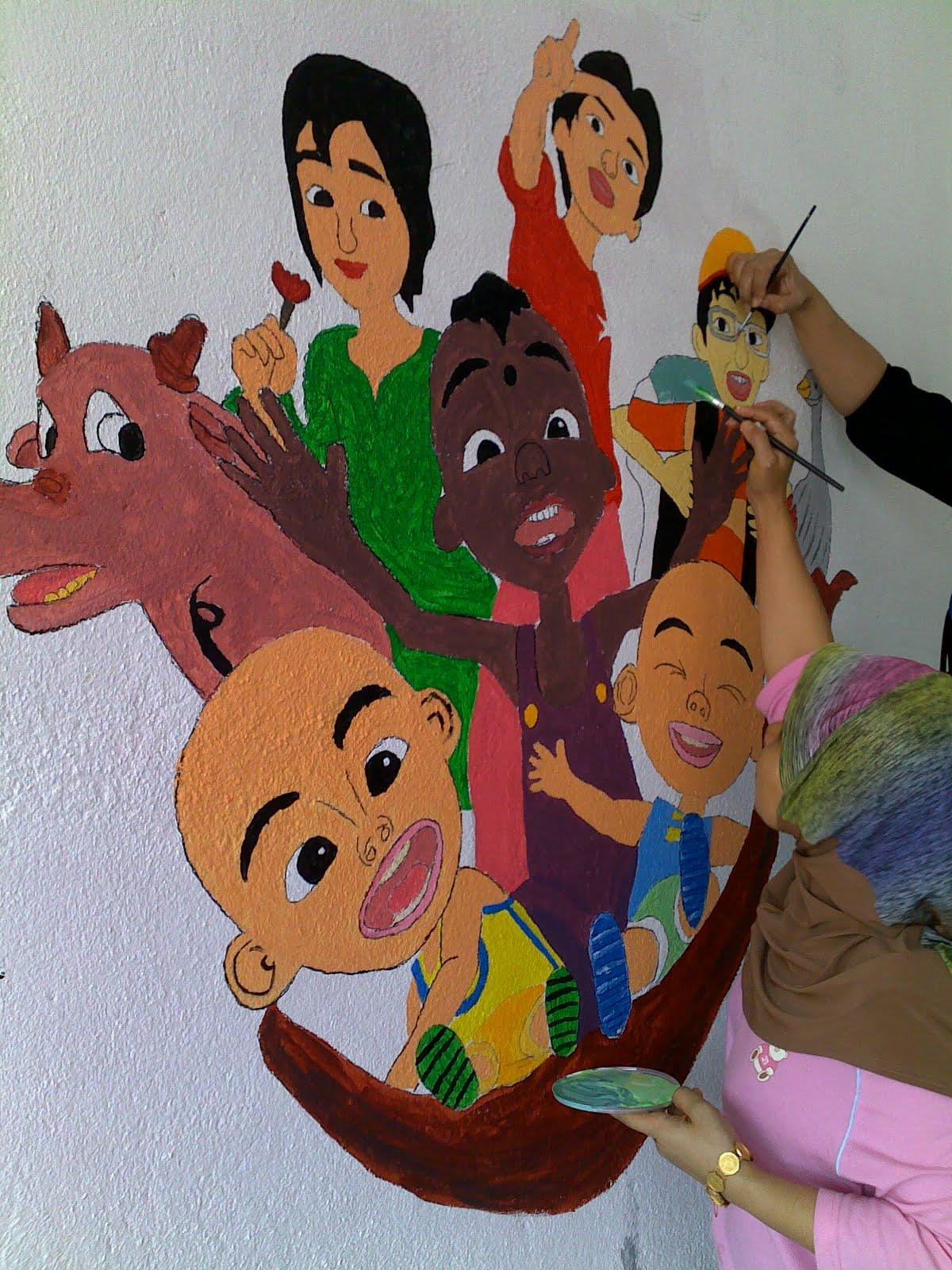 Jaz emy program sekolahku for Mural yang cantik