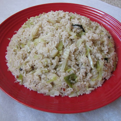 I love the flavor of this rice so much that I tried it again when I came back to my place Cabbage Rice With Coconut Milk