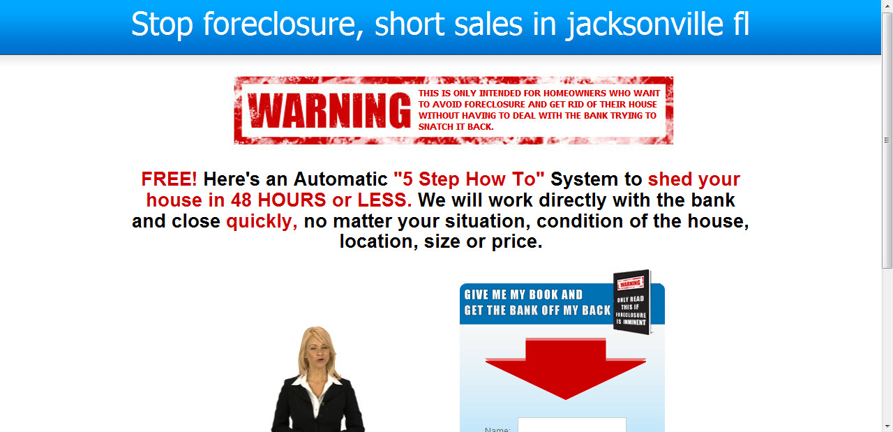 Jacksonville business transformation contest business for Short sale leads