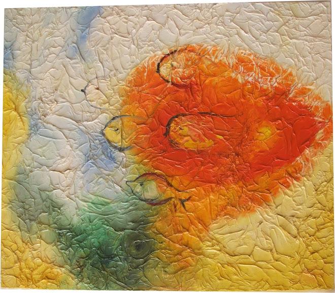 Pintura - Abstrato - Peixes