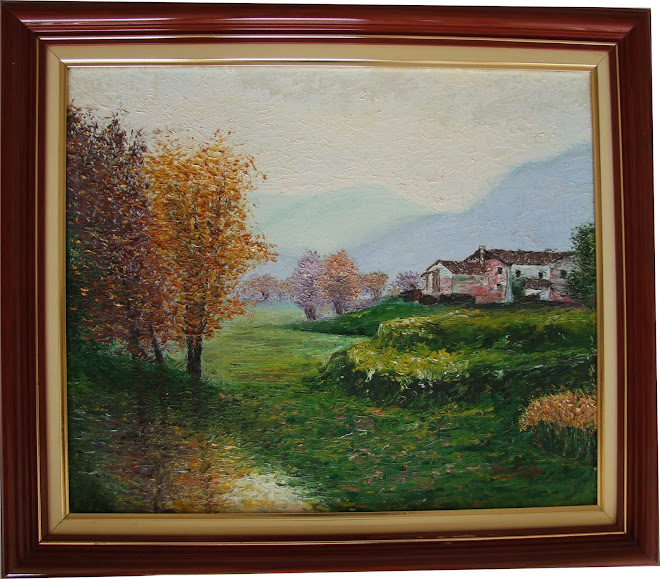 Pintura - Casa com Álamos