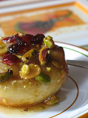 Cranberry and Pistachio Sticky Buns