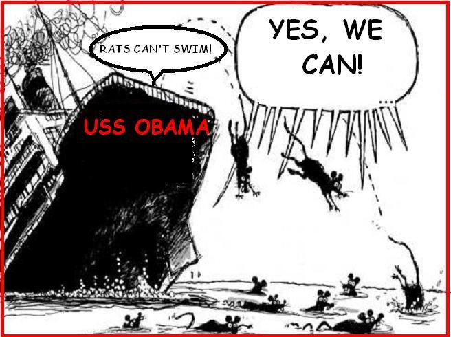 obama rats sinking ship