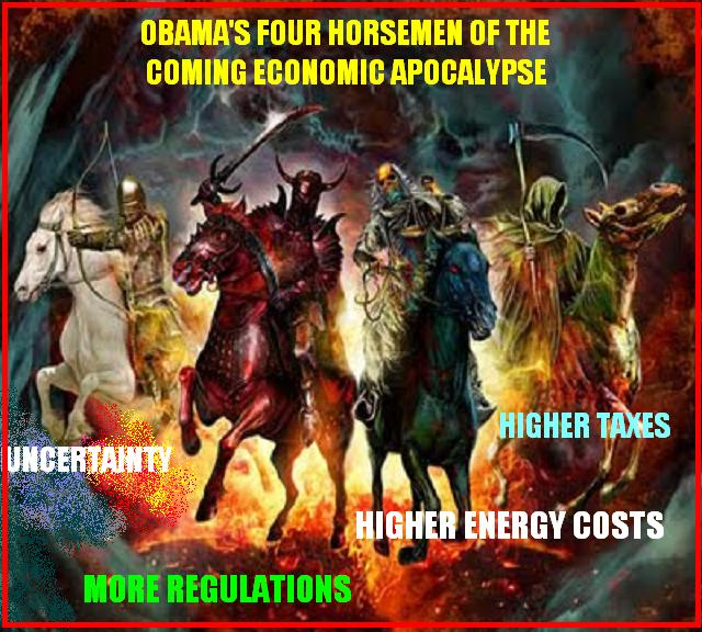 SUE OF A FLY: OBAMA'S FOUR HORSEMAN OF THE ECONOMIC APOCALYPSE