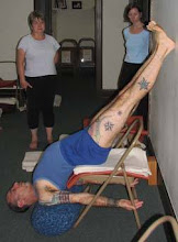 sarvangasana on a chair