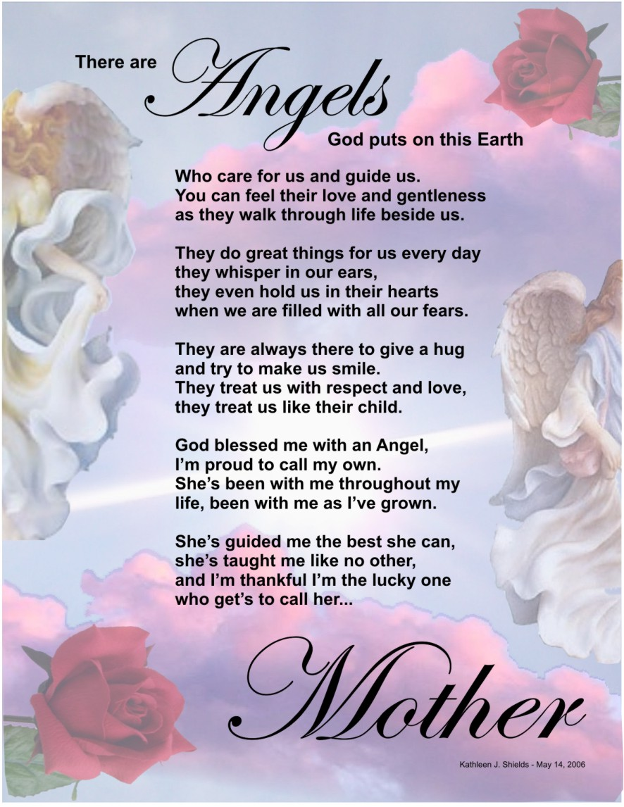 Dear Mom Poem Happy mother's day