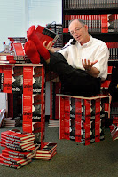Bob Young - Lulu founder - with his unsold books