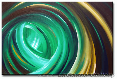 Cool Mojito - Abstract Art Painting
