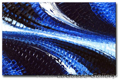 Sapphire Mosaic - Textured Oil Painting