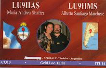 QSL  LU9HAS y LU9HMS