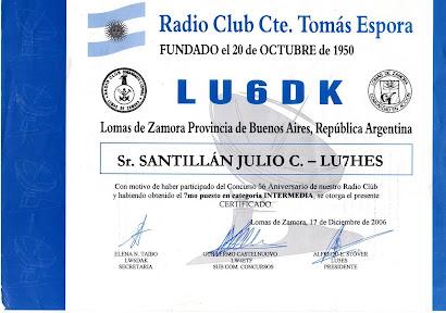 CONCURSO RADIO CLUB TOMAS ESPORA LU6DK
