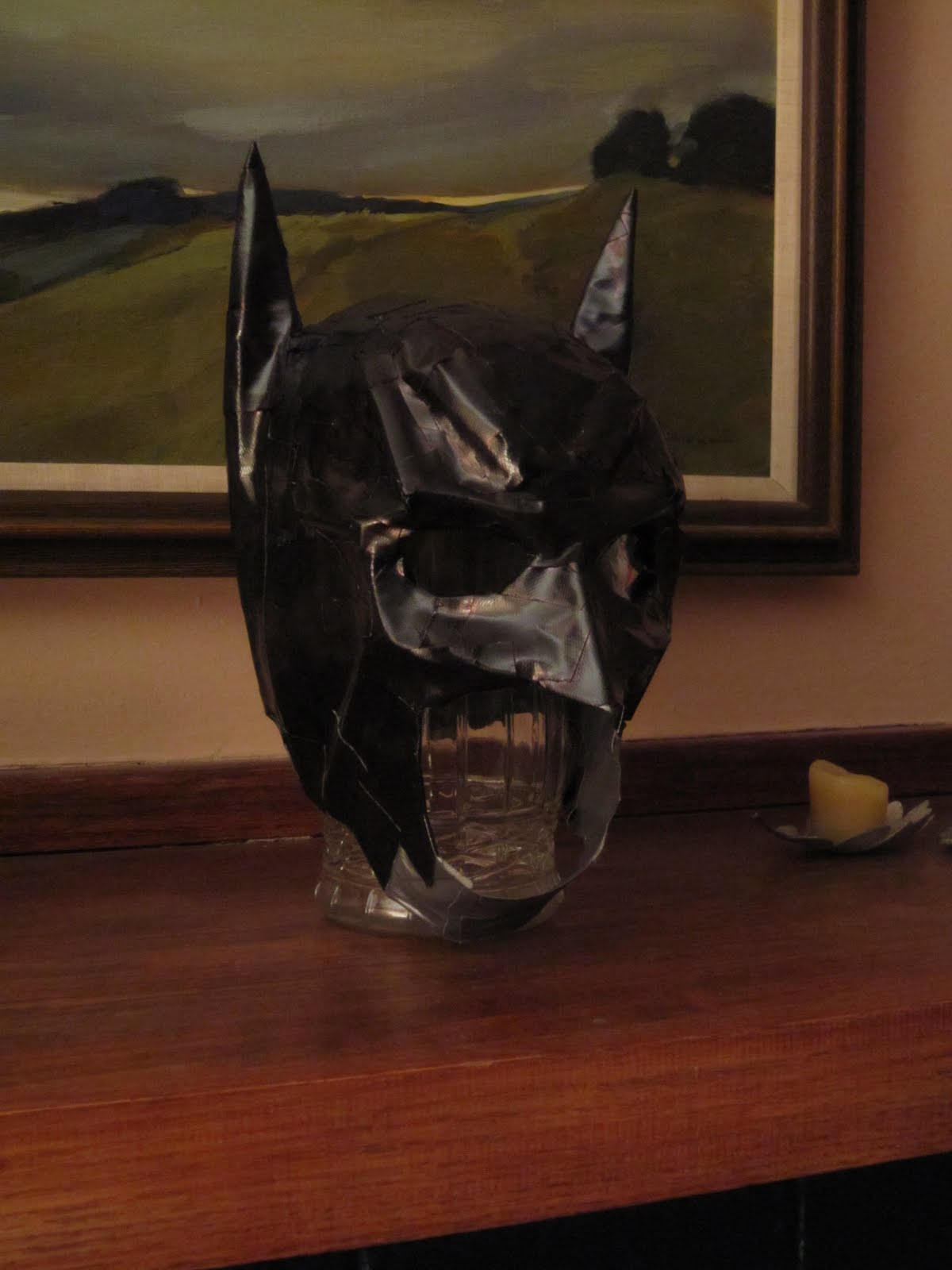 Chuck does art diy do it yourself batman costume mask solutioingenieria Image collections
