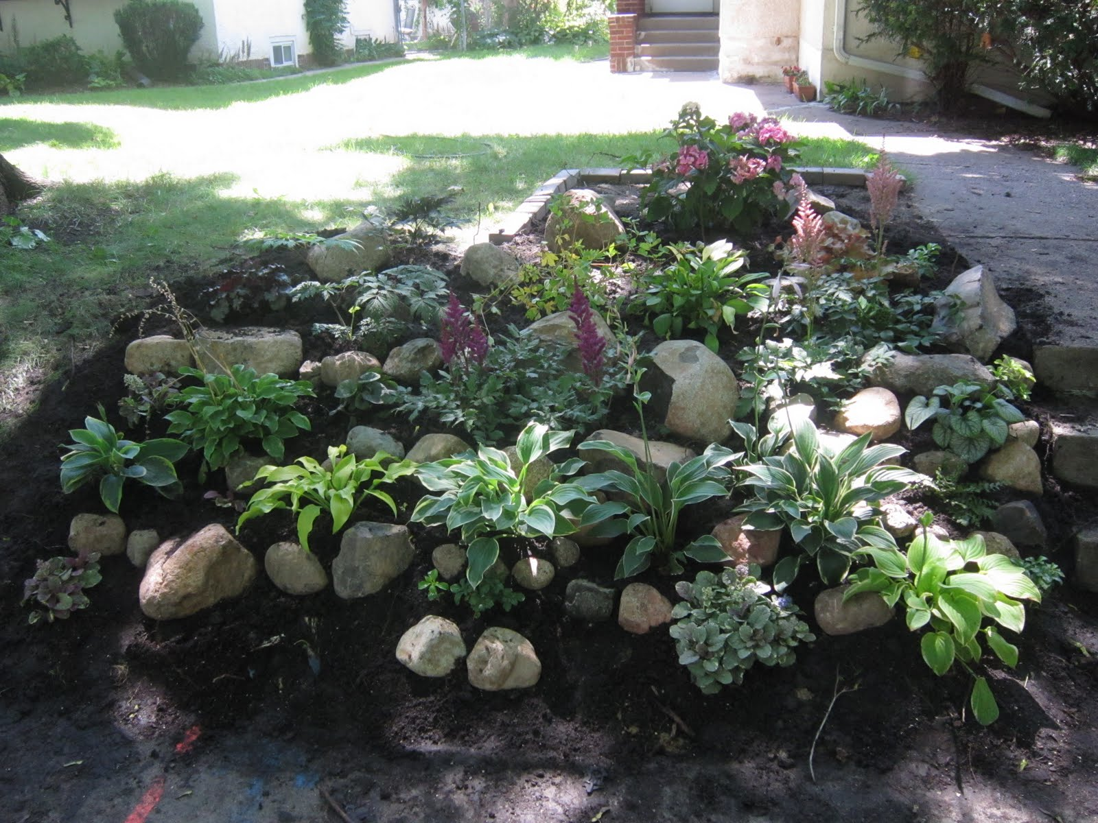 Landscaping Ideas For Shady Hillside : Chuck does art landscaping shady hillside
