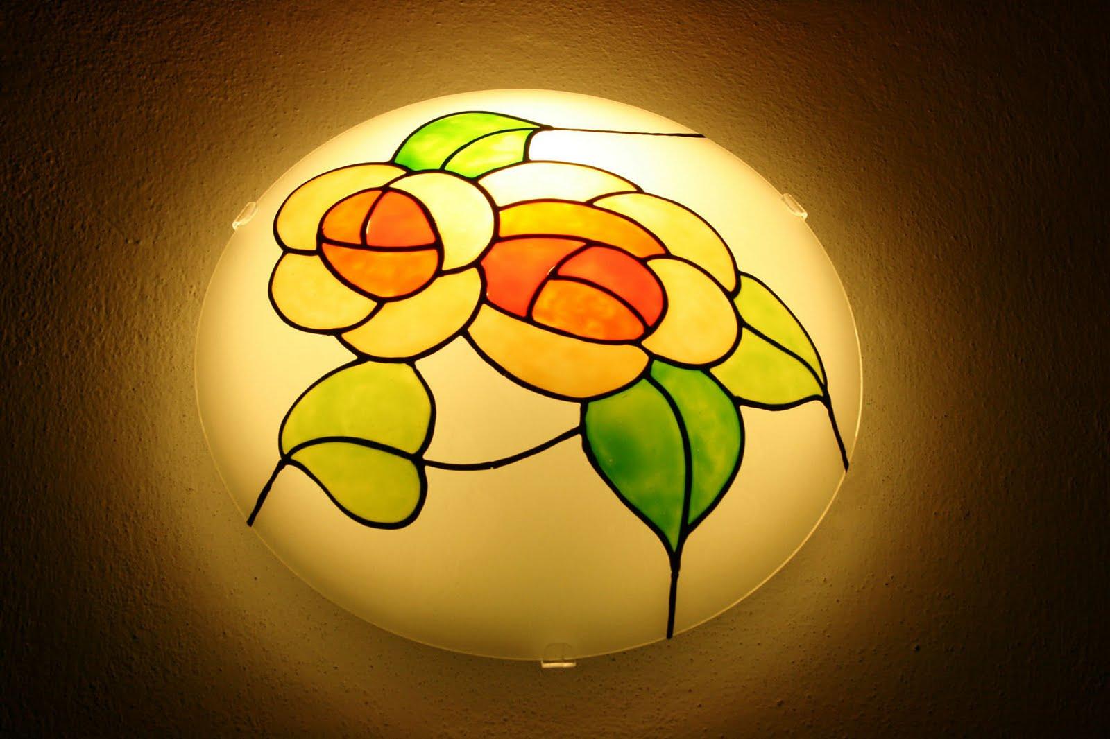 ... riposizionabili per vetro: Decorare una lampada da muro ... Tutorial