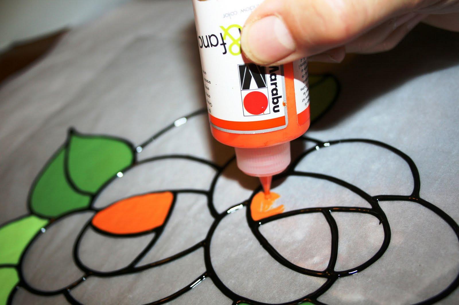 Lampadario Di Carta Velina : Fatto da me tutorial: colori riposizionabili per vetro: decorare