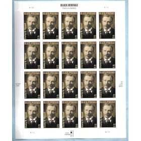 2008 CHARLES W. CHESTNUTT #4222 Pane of 20 x 41 cents US Postage Stamps