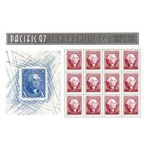 1997 GEORGE WASHINGTON SOUVENIR SHEET #3140 Sheet of 12 x 60 cents US Postage Stamps