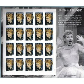 2001 LUCILLE BALL LEGENDS OF HOLLYWOOD #3523 Pane of 20 x 34 cents US Postage Stamps