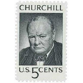 #1264 - 1965 5c Winston Churchill U. S. Postage Stamp Plate Block (4)