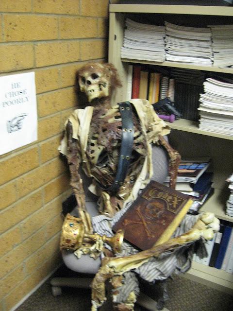 Halloween Skeleton Office Crew