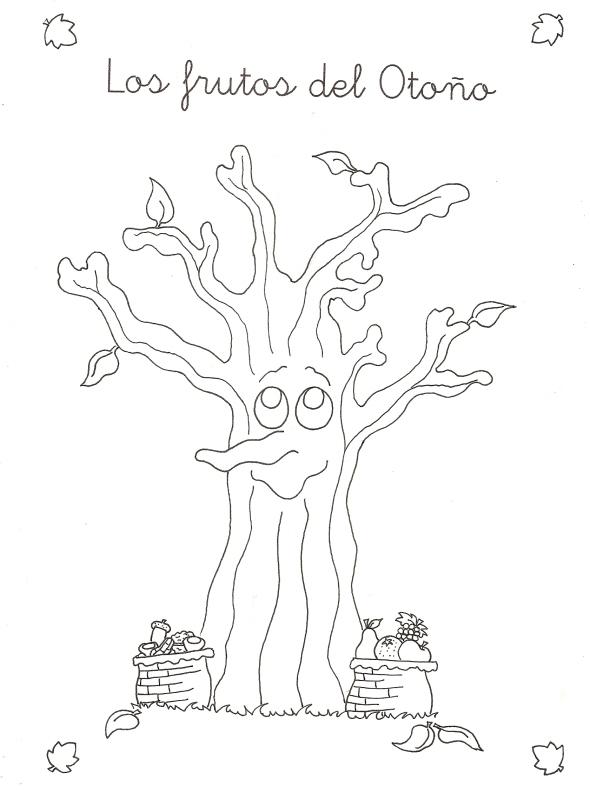 ESOS LOCOS BAJITOS DE INFANTIL: frutos de otoño para colorear