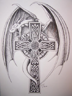 up tattoo meaning give never tribal Tattoo More  Tribal, Designs Celtic, Tattoos and Christian, Cross