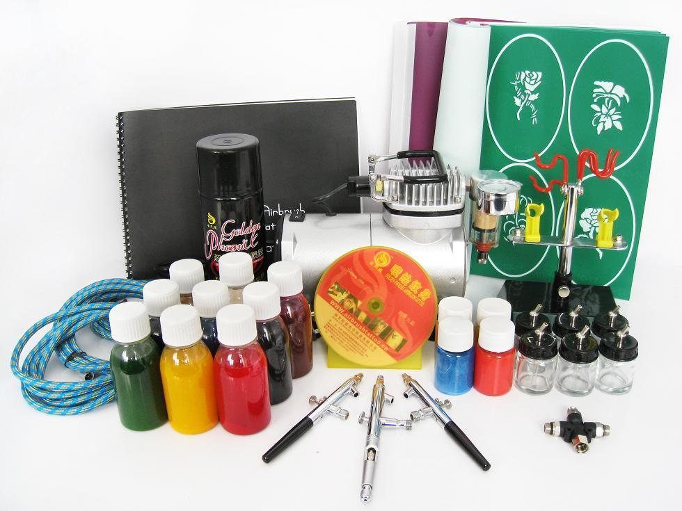 Tatto uses for airbrush tattoo kits for Airbrush tattoo kit