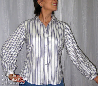 Simplicity 3684 blouse sewing by Sharon Madsen copyright 2009