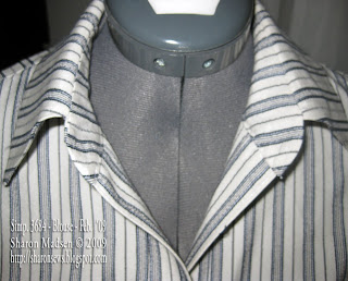 Bump Begone! or how to sew a collar with collar band and eliminate that ugly bump
