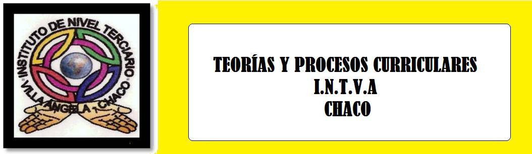 TEORÍAS Y PROCESOS CURRICULARES