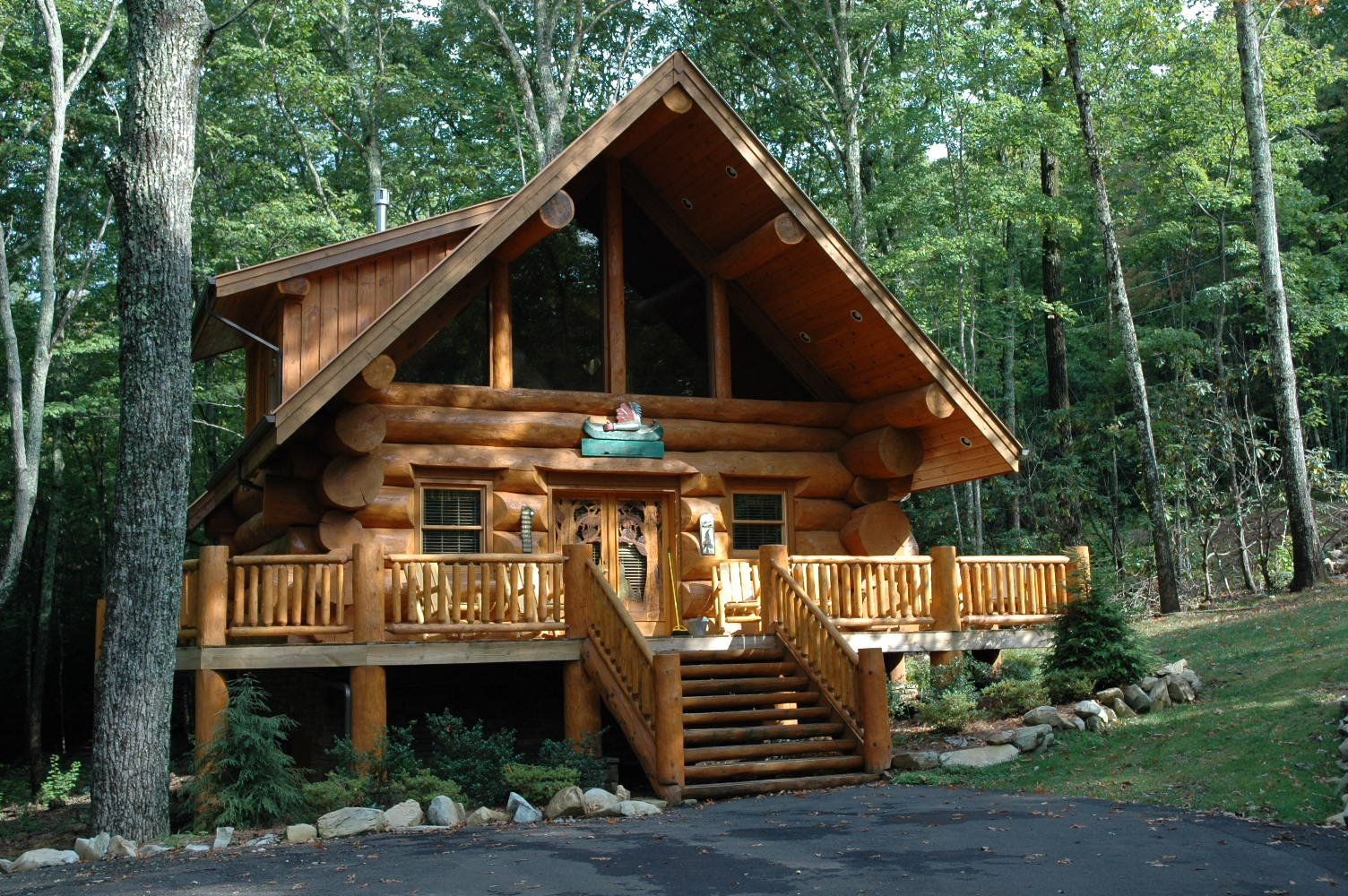 Log Home In The Woods ~ History of log cabins in the united states smoky