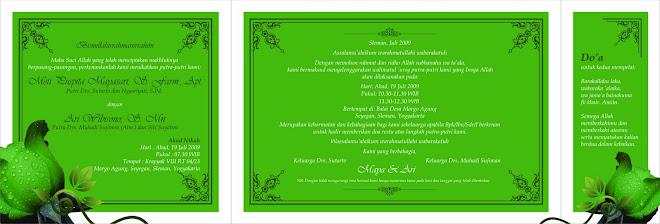 sampel desain undangan nikah