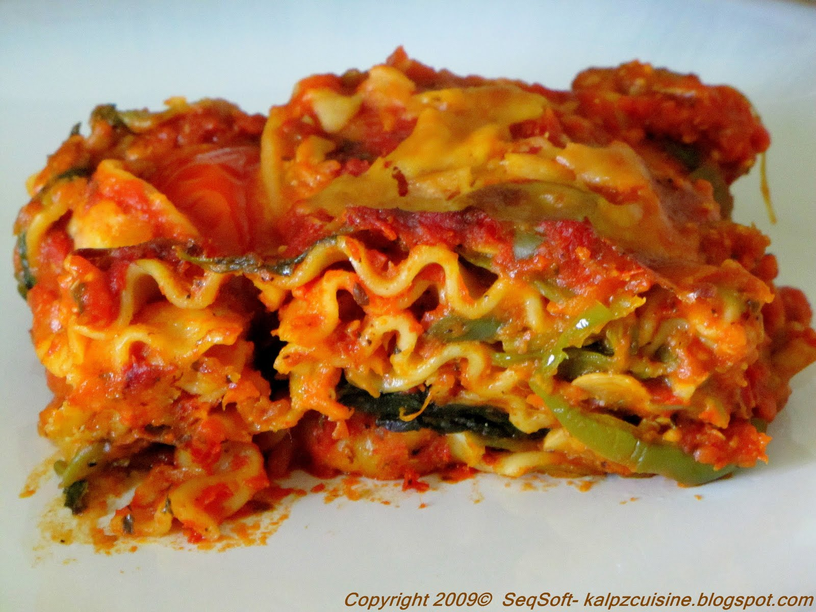 kalpz: Vegetable Lasagna