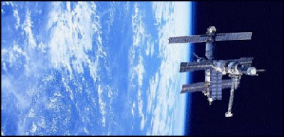 MIR space station in orbit