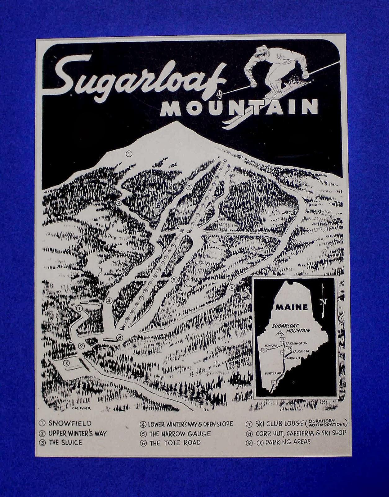 Maine Vintage Ski Images Sugarloaf - Vintage ski maps