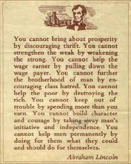 A. Lincoln 林肯