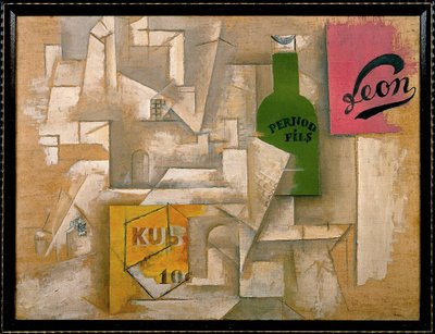 Landscape with Posters, Sorgues - Picasso, 1912