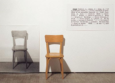 One and Three Chairs- Joseph Kosuth, 1965