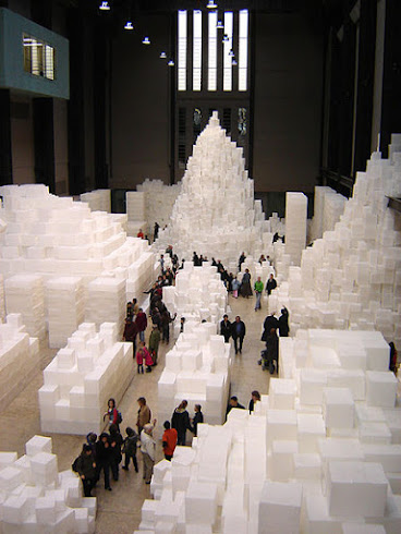 Embankment by Rachel Whiteread. Turbine Hall, The Tate Modern, London.  2005.