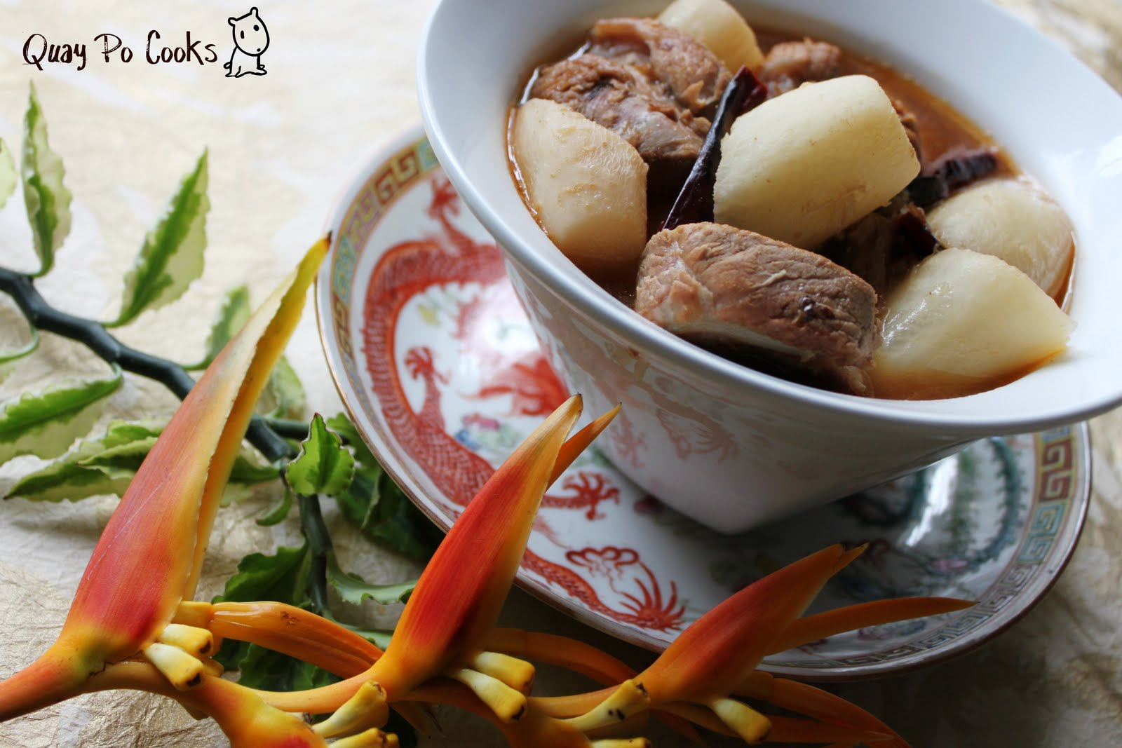 Quay Po Cooks: Stewed Lo Bak (turnip) & Pork Ribs - Mummy's Recipe is...