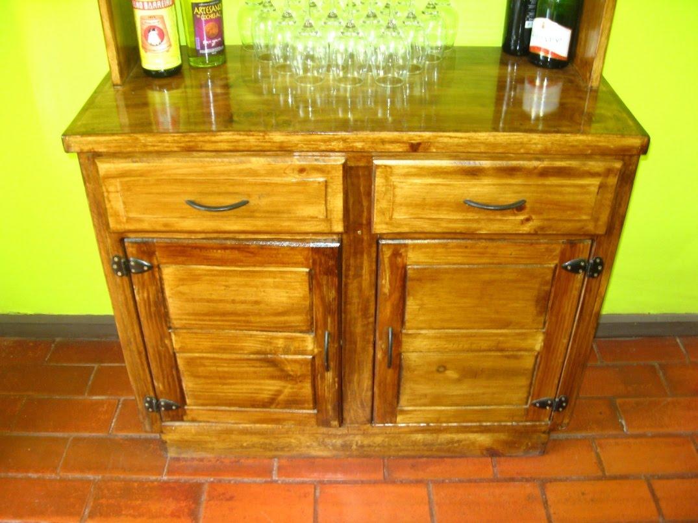 Muebles rusticos buin muble bar o de cocina for Muebles vanitorios rusticos