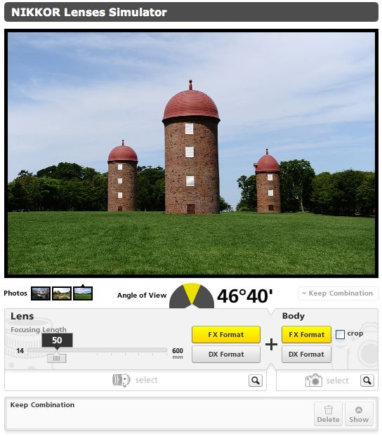 Nikon | Imaging Products | NIKKOR Lens Simulator