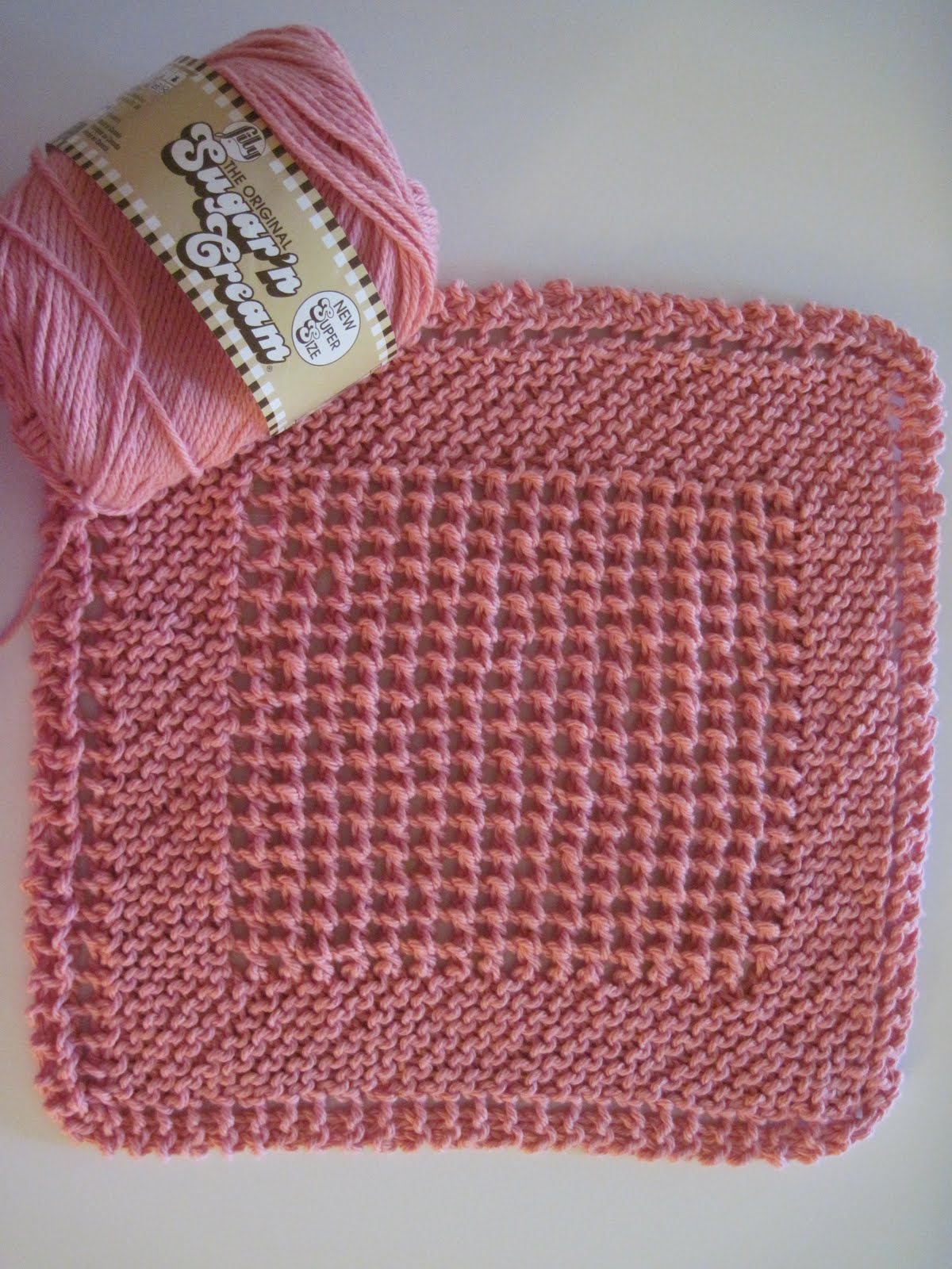 Knitted Dishcloth Patterns Diagonal : Passion Knit Girl: Just Keep Knitting