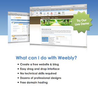 free website hosting with weebly