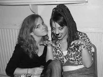 emma watson with her funny friend
