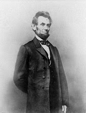 Abe, our tallest president, 6'4""